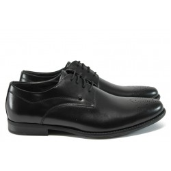 Мъжки обувки от естествена кожа Rieker B2610-00 черен ANTISTRESS
