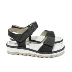 Ортопедични дамски сандали от естествена кожа Remonte R7753-80 черен