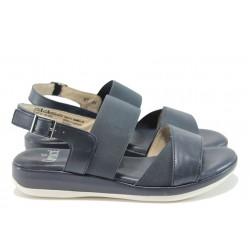 Ортопедични дамски сандали от естествена кожа Caprice 2-28701-26Н т.син