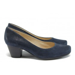 Дамски обувки на среден ток Caprice 9-22411-26 т.син