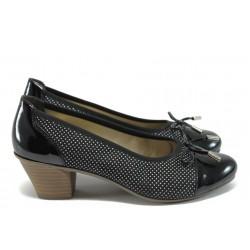 Дамски обувки на среден ток Rieker 45081-00 черен ANTISTRESS