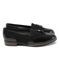 Равни дамски обувки за Н крак Jana 8-24260-27 черен