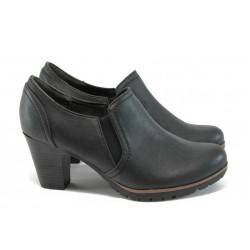 Дамски обувки на ток с кроко мотив Jana 8-24461-27 черен
