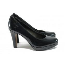 """Елегантни дамски обувки с """"мемори"""" пяна s.Oliver 5-22400-27 т.син"""