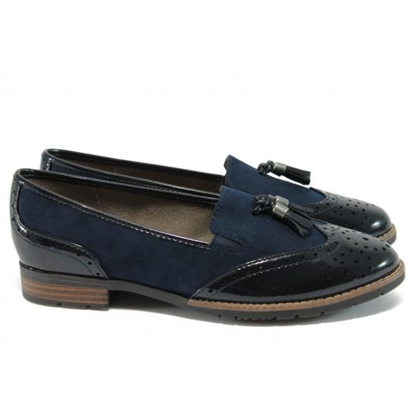 Равни дамски обувки за Н крак Jana 8-24260-27 т.син