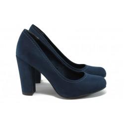 Дамски обувки на висок ток Marco Tozzi 2-22416-27 т.син