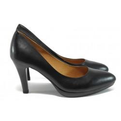 Дамски обувки от естествена кожа Caprice 9-22410-27 черен ANTISHOKK