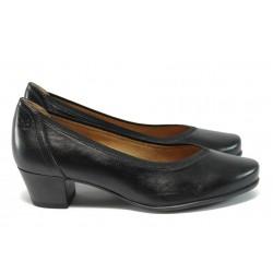 Ортопедични дамски обувки от естествена кожа Caprice 9-22414-27 черен ANTISHOKK