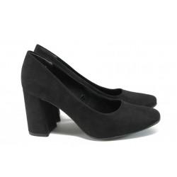 Дамски обувки на висок ток Marco Tozzi 2-22432-37 черен