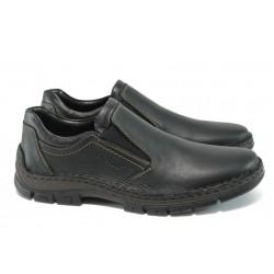 Мъжки обувки от естествена кожа Rieker 12272-00 черен ANTISTRESS
