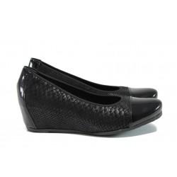 Дамски обувки от естествена кожа Rieker L4760-01 черен ANTISTRESS | Дамски боти | MES.BG
