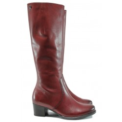 Дамски ботуши от естествена кожа за XS крак Caprice 9-25539-27G бордо ANTISHOKK | Немски дамски ботуши | MES.BG