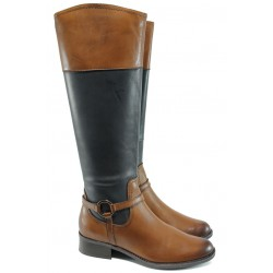 Дамски ботуши от естествена кожа за XS крак Caprice 9-25534-27G кафяв-син ANTISHOKK | Немски дамски ботуши | MES.BG
