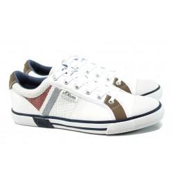 Мъжки спортни обувки S.Oliver 5-13622-38 бял | Мъжки обувки | MES.BG