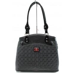 Българска дамска чанта СБ 1177 черен букви | Дамска чанта | MES.BG