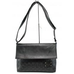 Българска дамска чанта СБ 1083 черен букви | Дамска чанта | MES.BG
