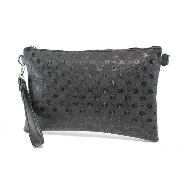 Българска дамска чанта СБ 1210 черен букви | Дамска чанта | MES.BG