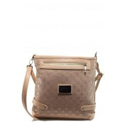 Българска дамска чанта СБ 1159 розов букви | Дамска чанта | MES.BG