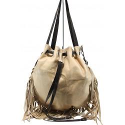Българска дамска чанта от естествена кожа ИО 48 бежов | Дамски чанти | MES.BG
