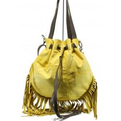 Българска дамска чанта от естествена кожа ИО 48 жълт | Дамски чанти | MES.BG