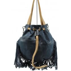 Българска дамска чанта от естествена кожа ИО 48 син | Дамски чанти | MES.BG