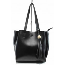 Българска дамска чанта СБ 1219 черен | Дамска чанта | MES.BG