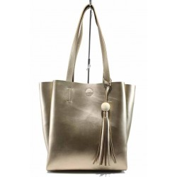 Българска дамска чанта СБ 1219 злато | Дамска чанта | MES.BG