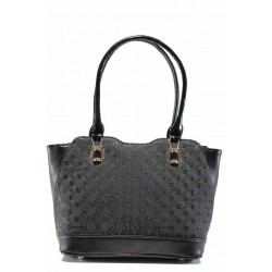 Българска дамска чанта СБ 1214 черен букви | Дамска чанта | MES.BG