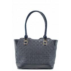 Българска дамска чанта СБ 1214 син букви | Дамска чанта | MES.BG
