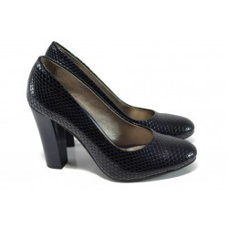 Елегантни дамски обувки МИ 78 т.син | Дамски обувки на висок ток | MES.BG