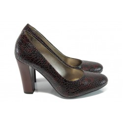 Елегантни дамски обувки МИ 78 бордо | Дамски обувки на висок ток | MES.BG