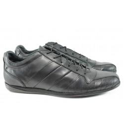 Мъжки спортни обувки от естествена кожа СБ 110 черен гигант | Мъжки ежедневни обувки | MES.BG