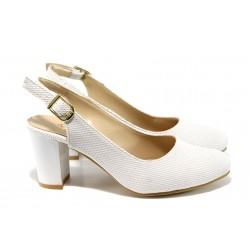 Дамски обувки на ток МИ 88 бял |  Дамски обувки на висок ток | MES.BG