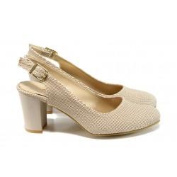 Дамски обувки на ток МИ 88 бежов |  Дамски обувки на висок ток | MES.BG