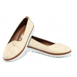 Дамски ортопедични обувки МИ 52 бежов | Равни дамски обувки | MES.BG