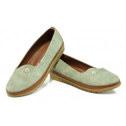 Дамски ортопедични обувки МИ 52 зелен | Равни дамски обувки | MES.BG