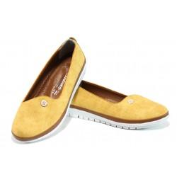 Дамски ортопедични обувки МИ 52 жълт | Равни дамски обувки | MES.BG