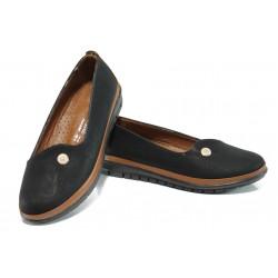 Дамски ортопедични обувки МИ 52 черен | Равни дамски обувки | MES.BG