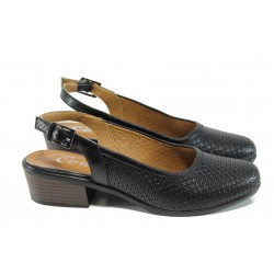 Анатомични дамски обувки на ток МИ 237 черен | Дамски обувки на среден ток | MES.BG