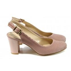 Дамски обувки на ток МИ 88 розов | Дамски обувки на висок ток | MES.BG
