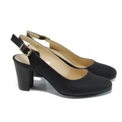 Дамски обувки на ток МИ 88 черен | Дамски обувки на висок ток | MES.BG
