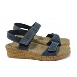 Дамски ортопедични сандали на платформа ГР 14927-10 син | Дамски сандали | MES.BG