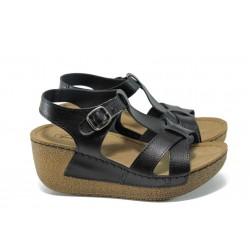 Анатомични дамски сандали Jump 14797 черен | Равни дамски сандали | MES.BG