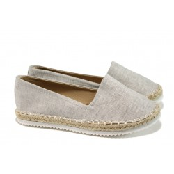 Дамски еспадрили АБ 15724-16 сив | Равни дамски обувки | MES.BG