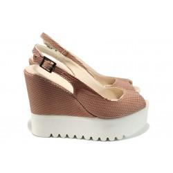 Дамски сандали на платформа МИ 109-259 розов | Дамски сандали на ток | MES.BG