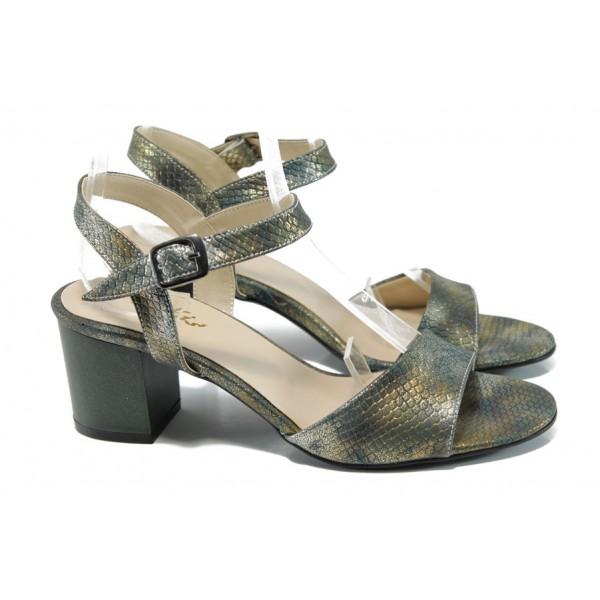 Дамски елегантни сандали МИ 9080-3 хамелеон | Дамски сандали ток | MES.BG