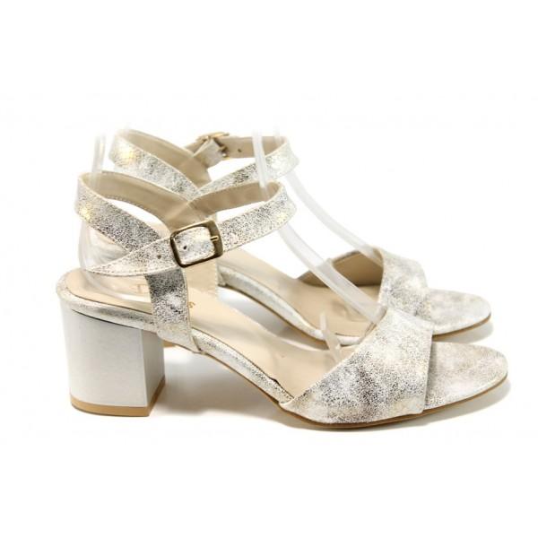 Дамски елегантни сандали МИ 9080-2 хамелеон   Дамски сандали ток   MES.BG