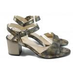 Дамски елегантни сандали МИ 9080-1 хамелеон | Дамски сандали ток | MES.BG