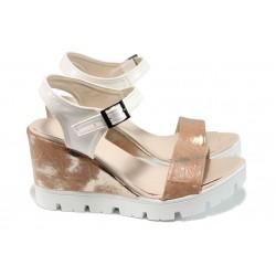 Дамски сандали на платформа МИ 100-760 розов | Дамски сандали на ток | MES.BG