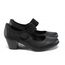 Дамски обувки на ток Jana 8-24366-29Н черен | Немски обувки на среден ток | MES.BG